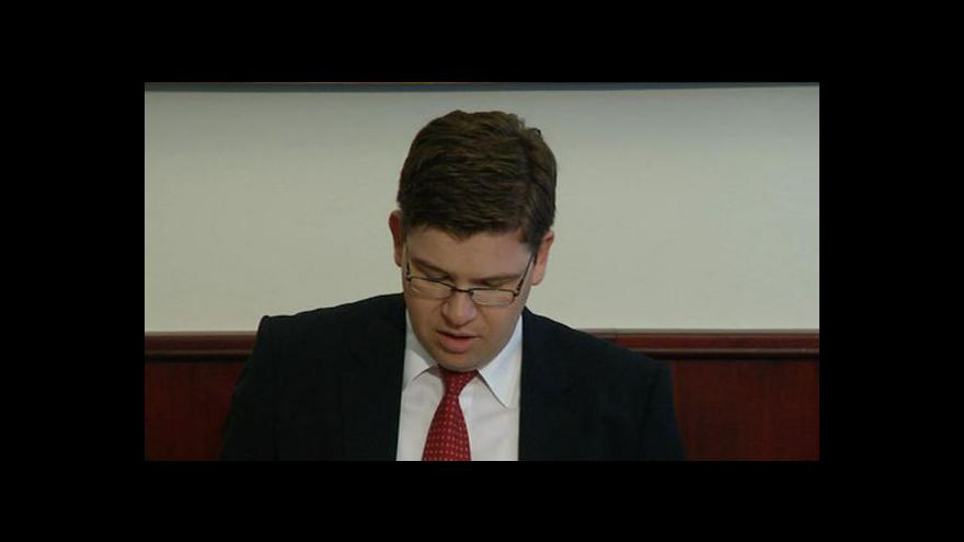 Video Tisková konference ministra spravedlnosti