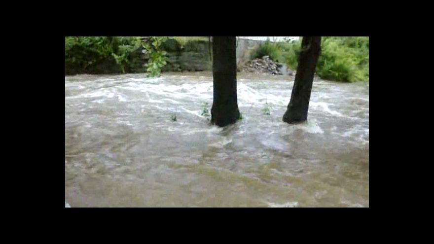 Video Rozvodněná Jeřice v Nové Vsi