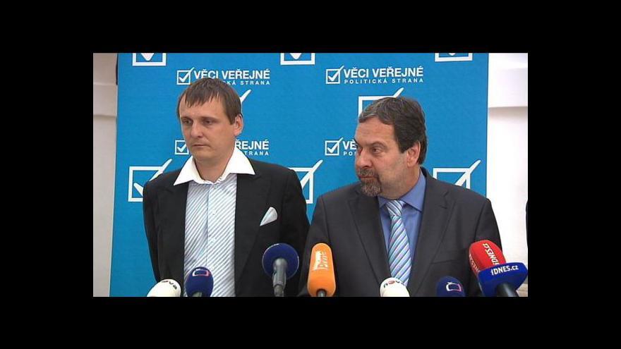 Video Brífink VV k jednání o rozpočtu