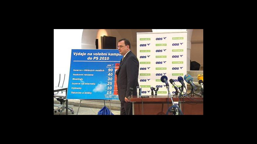 Video Brífink ODS k volebním kampaním