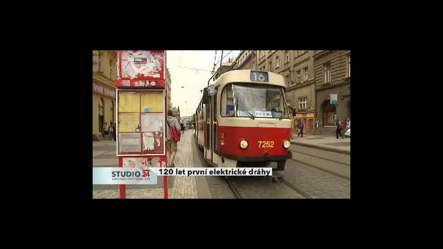 Video Studio ČT24 o tramvajovém výročí