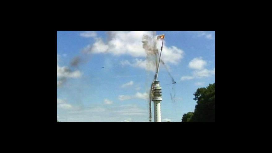 Video Zřícení vysílací věže v Hoogersmilde