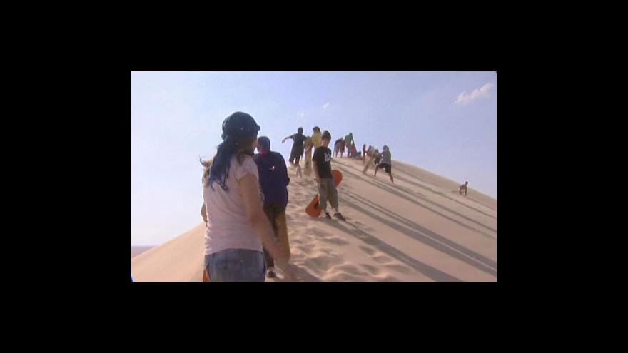 Video Sandboarding v Egyptě