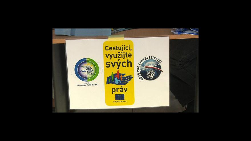 Video Kompenzace v letecké dopravě tématem Ekonomiky ČT24