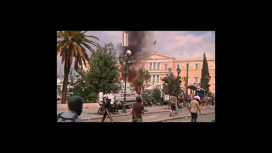 Video Generální stávka v Řecku