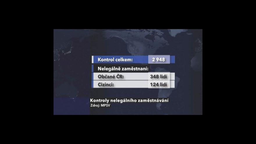 Video Odhalení práce na černo Česku šetří miliony