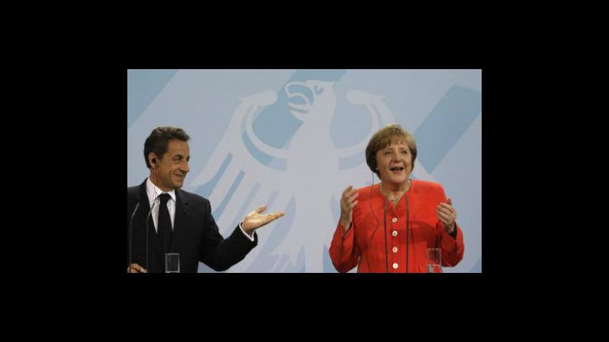 Video Brífink Merkelové a Sarkozyho k Řecku