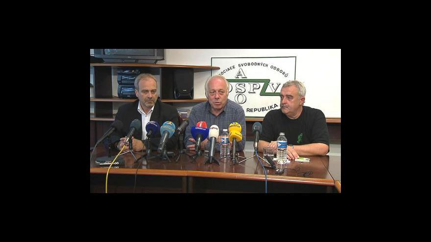 Video Tisková konference odborů k průběhu dnešní stávky