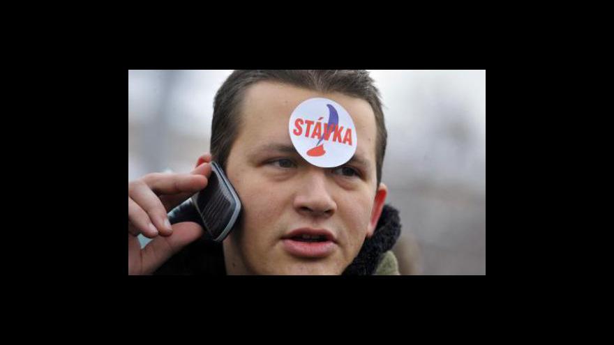 Video Politika kolem stávky