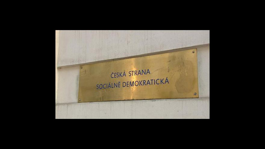 Video Brífink Bohuslava Sobotky o předčasných volbách