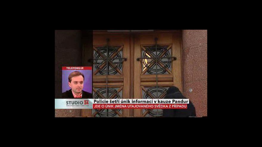 Video Redaktor Respektu Ondřej Kundra ve Studiu ČT24