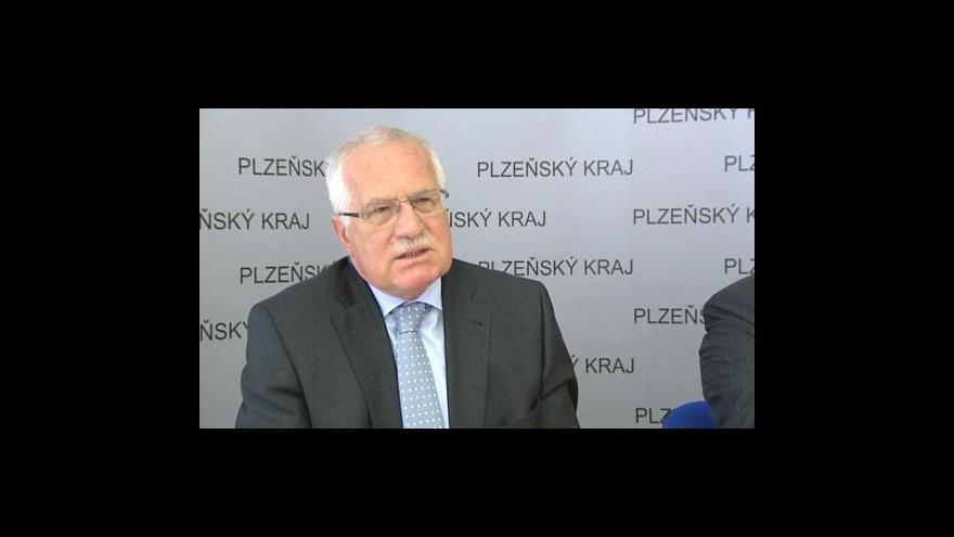 Video Tisková konference Václava Klause