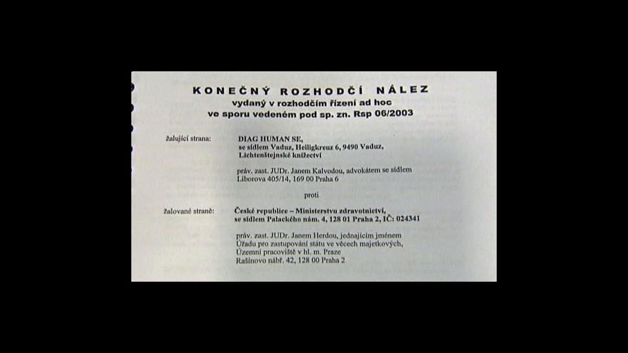Video Studio ČT24 o kauze Diag Human