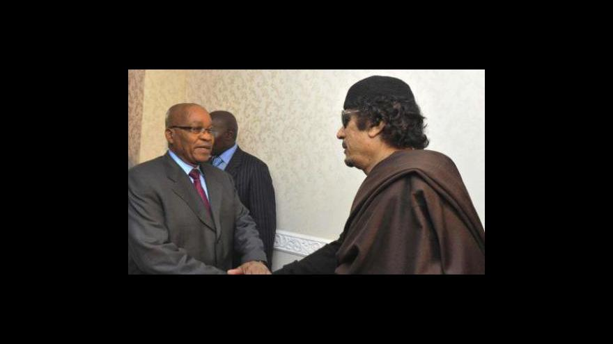Video Kaddáfí jednal s Jacobem Zumou
