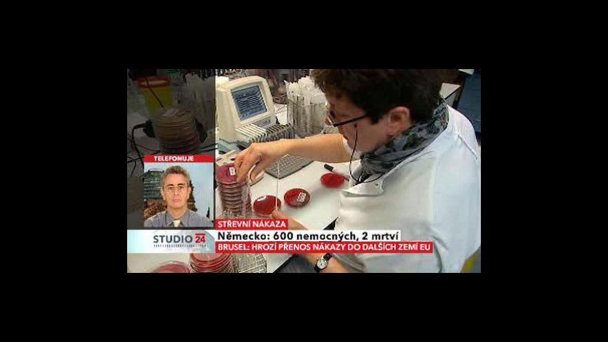 Video Studio ČT24 k vývoji střevní nákazy v Německu