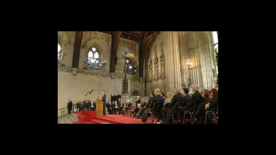 Video Projev Baracka Obamy pro britský parlament