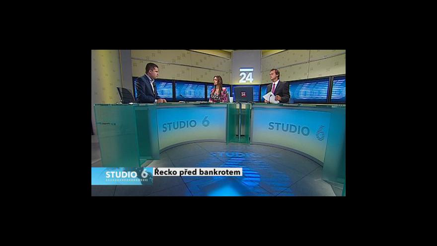 Video Situace Řecka tématem Studia 6