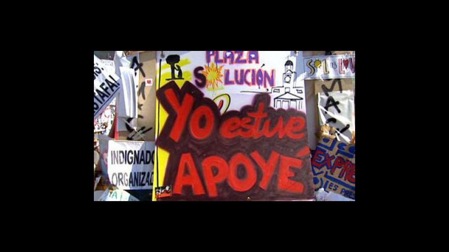 Video Španělé zůstanou v ulicích i po volbách