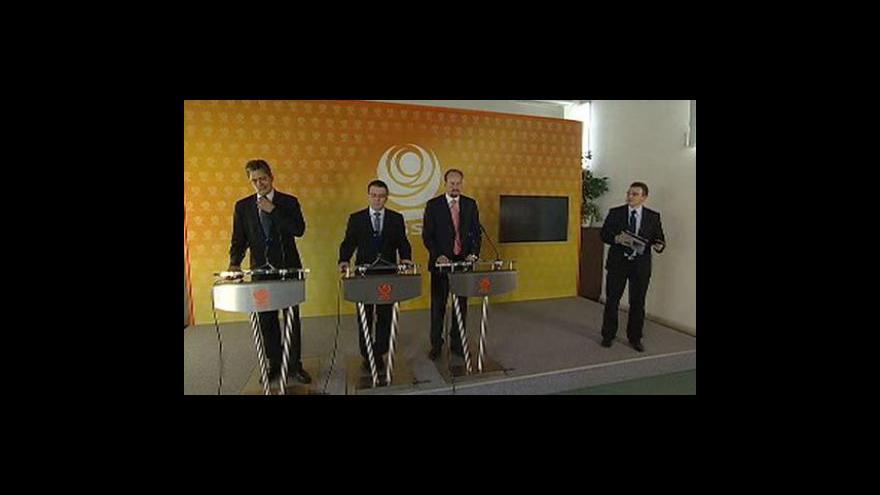 Video Brífink ČSSD o zahraniční politice a kauze Víta Bárty