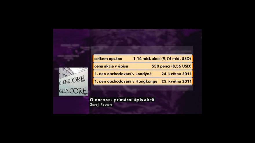 Video Rekordní IPO giganta Glencore