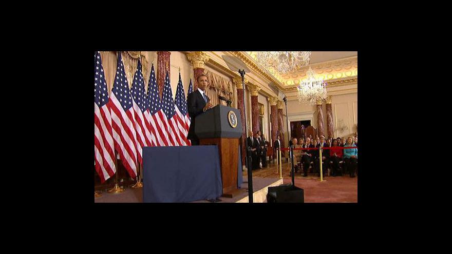Video Obama pro vznik samostatného palestinského státu