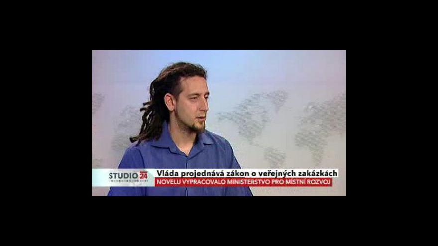 Video Studio ČT24 o veřejných zakázkách