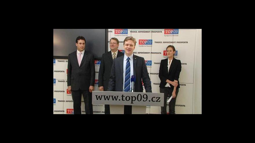 Video Brífink TOP 09 ke Key Investments