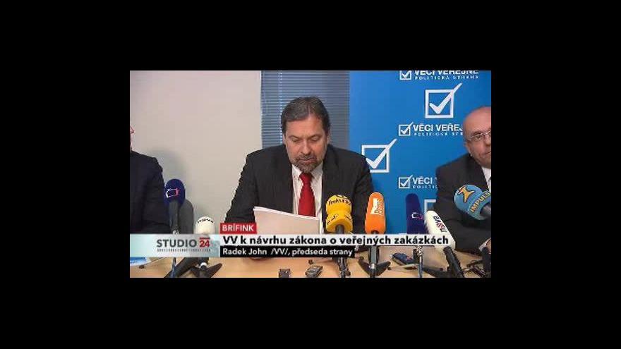 Video Brífink VV a reakce Stanislava Polčáka