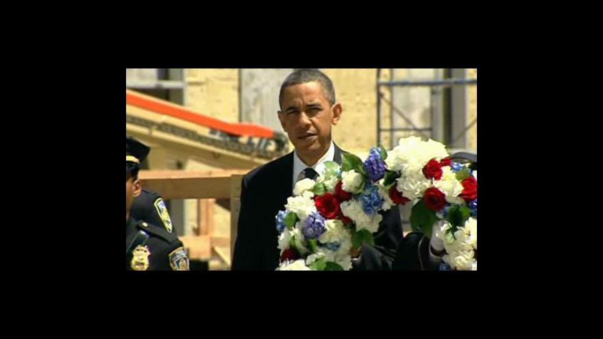 Video Obama navštívil newyorské Ground Zero