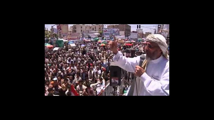 Video Alí Abdalláh Sálih odmítá podepsat předání moci