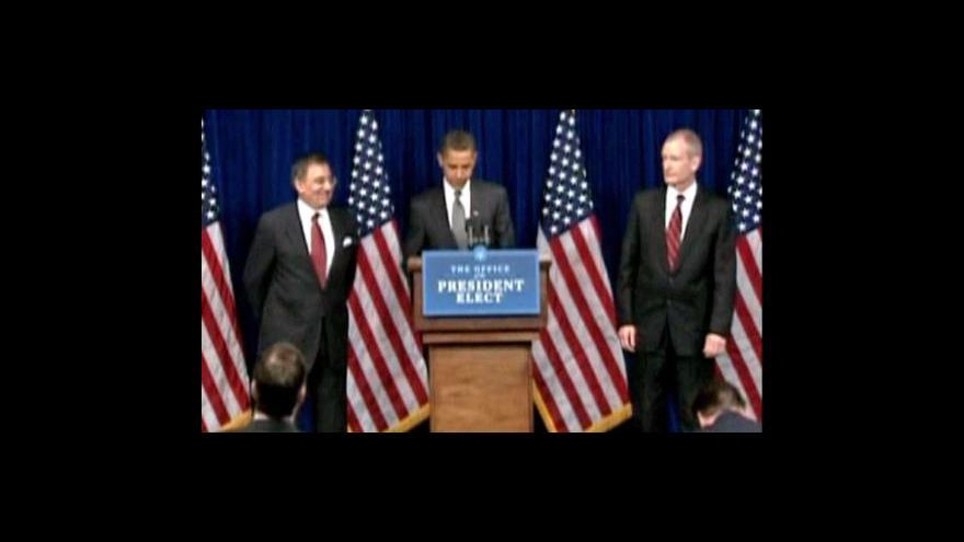 Video Obama oznámí změny ve vládě