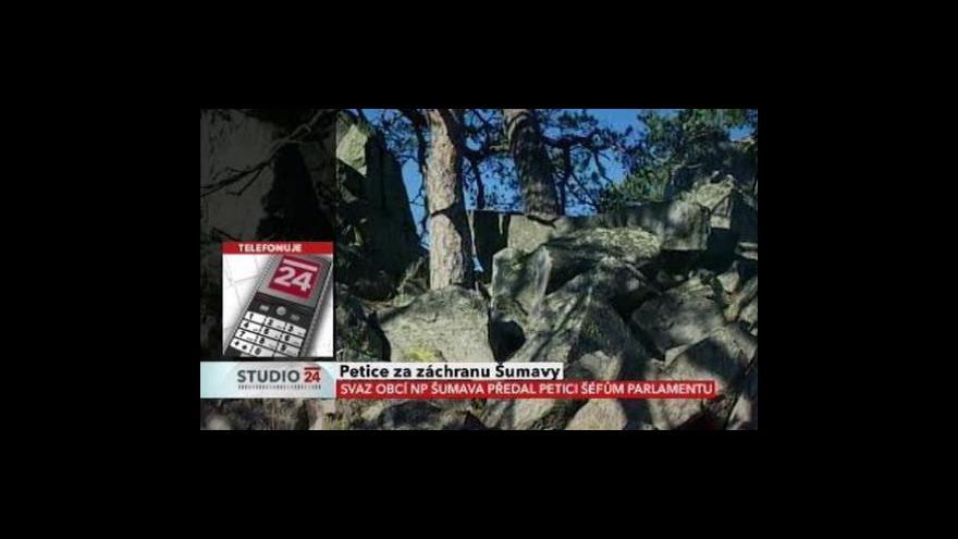 Video Předseda Svazu obcí NP Šumava Jiří Hůlka ve Studiu ČT24