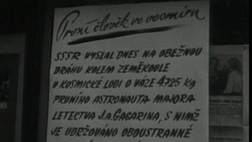 Video Z dobového rozhlasu o letu Gagarina