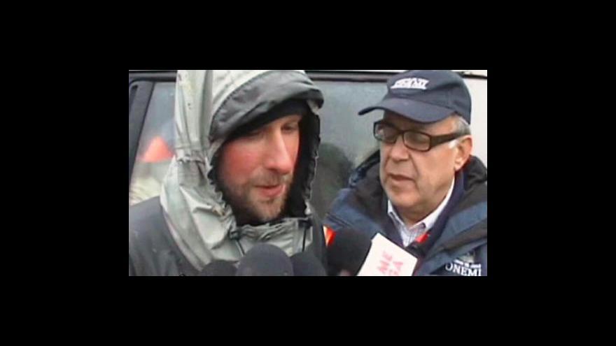 Video Záchrana turistů v Chile