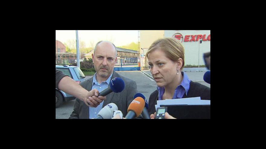Video Vyjádření policie a pyrotechniků
