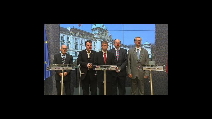 Video Ministři po jednání tripartity