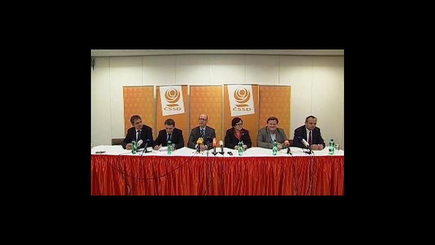 Video Brífink ČSSD po jednání ÚVV