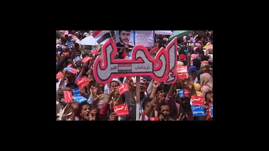 Video Tisíce lidí protestovaly v Damašku proti režimu prezidenta Asada