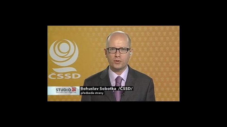 Video Bohuslav Sobotka ve Studiu ČT24