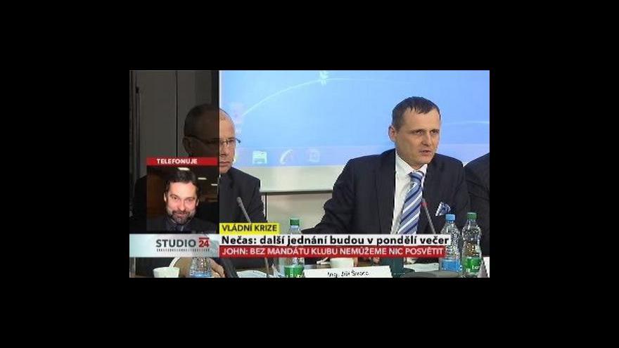 Video Radek John a Miroslav Kalousek ve Studiu ČT24