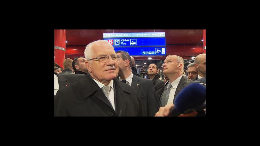 Video Vyjádření Václava Klause pro ČT