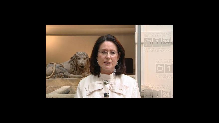 Video Rozhovor s předsedkyní sněmovny Miroslavou Němcovou