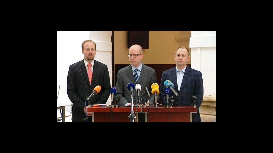 Video Brífink ČSSD o vládní krizi