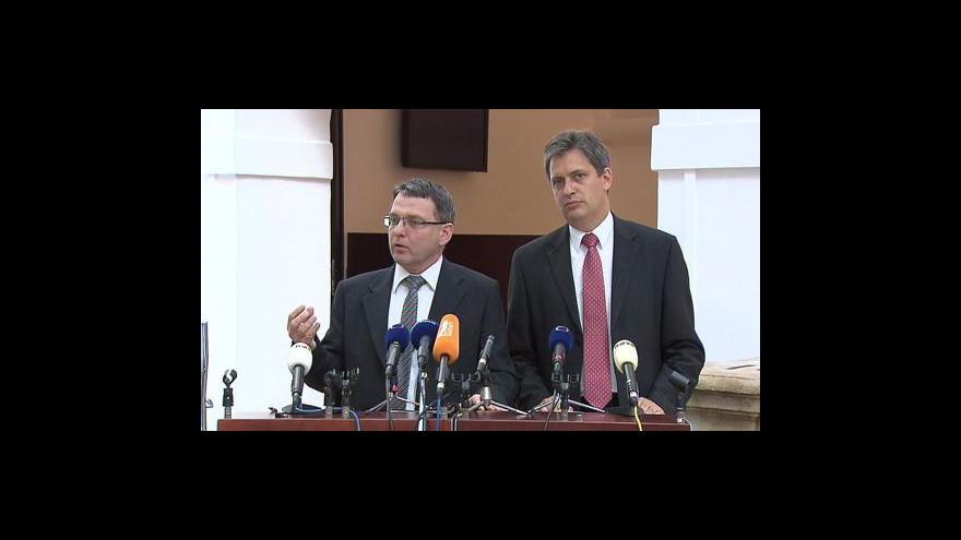 Video Brífink ČSSD k situaci v koalici