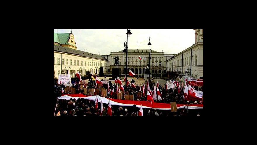 Video Reportáž Miroslava Karase a vstup Barbory Šámalové