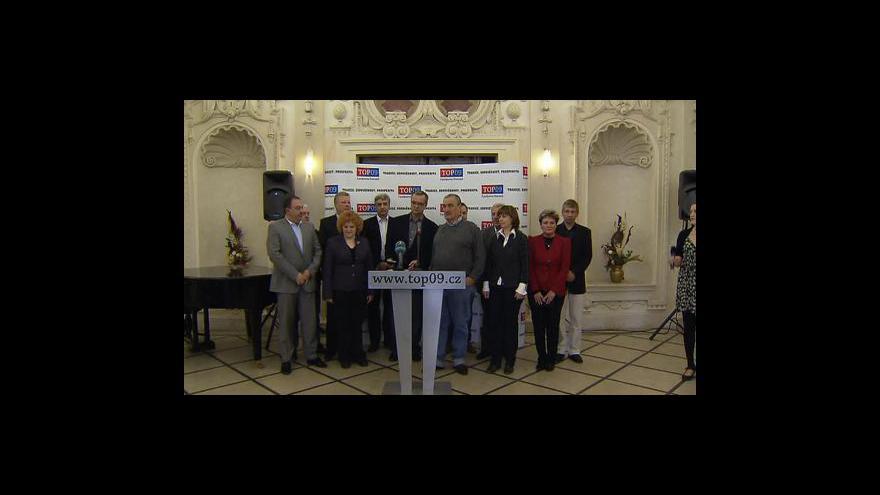 Video TK TOP 09 ke krizi v koalici