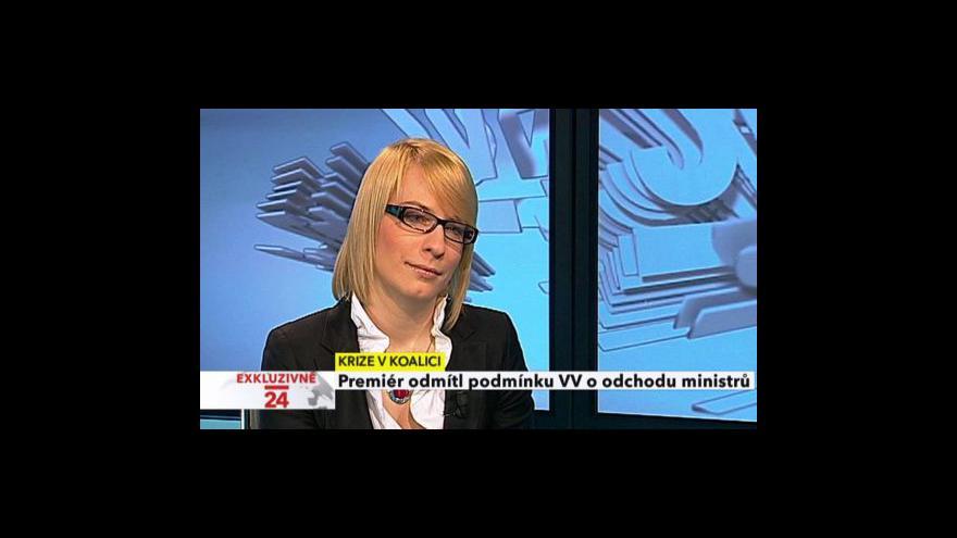Video Vyjádření Kristýny Kočí ke kauze VV