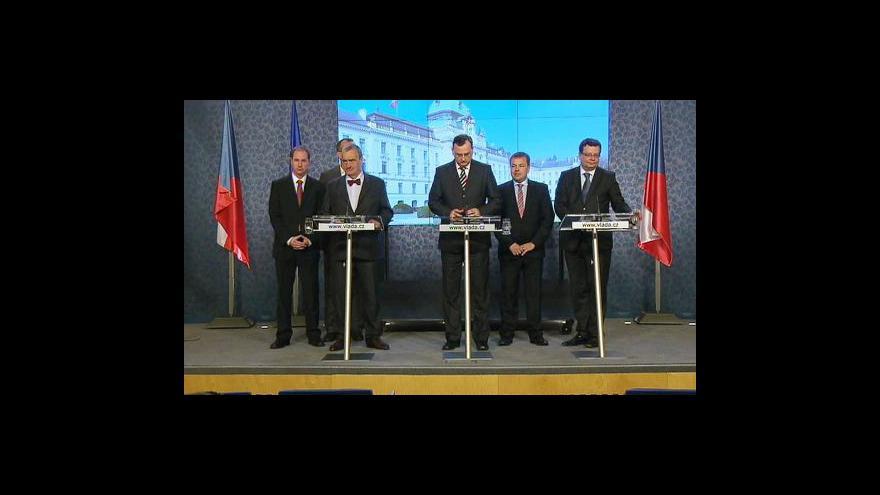 Video Brífink ODS a TOP 09 o ministrech VV