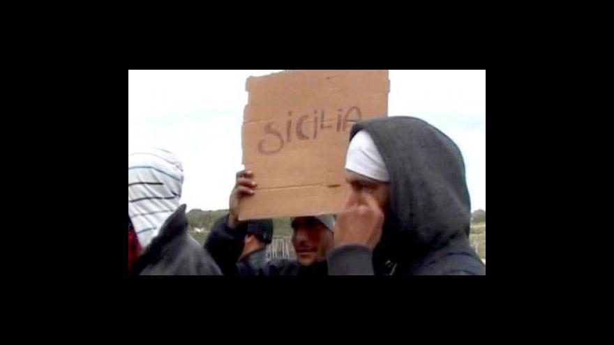 Video Itálie a Francie budou jednat o tuniských imigrantech