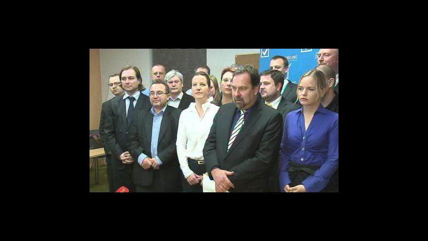 Video Brífink VV k jednání poslaneckého klubu